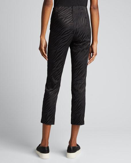Simone Zebra Cropped Pants