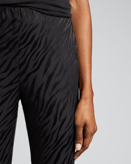 Simone Zebra Cropped Pants