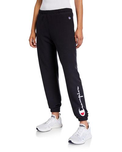 Logo Sweatpants with Elastic Cuffs