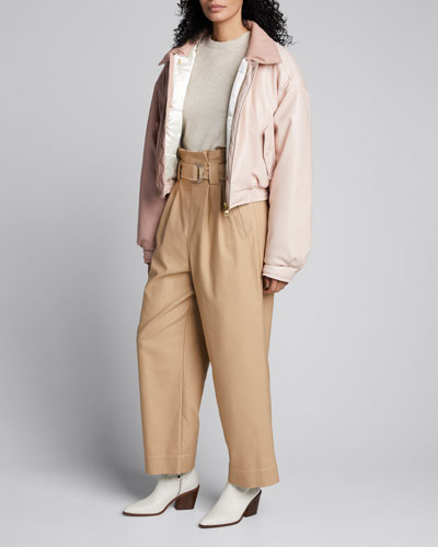 Bomi Vegan Leather Colorblock Jacket