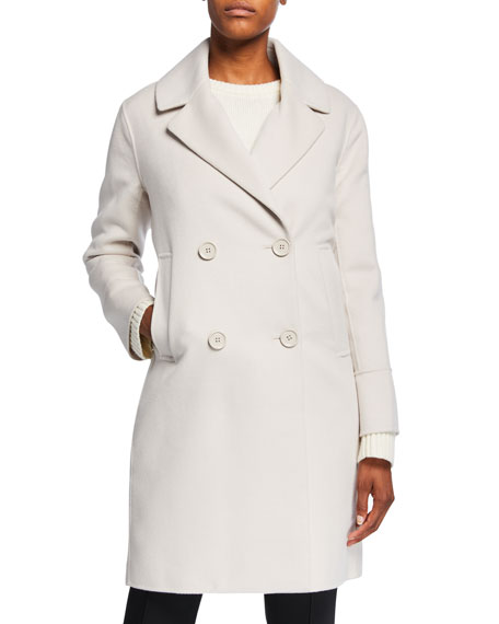 Cabanl Double-Breasted Wool-Blend Coat, Gray