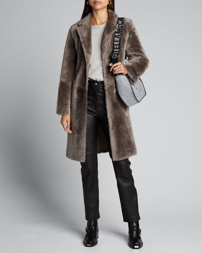 Reversible Lamb Fur Long Coat