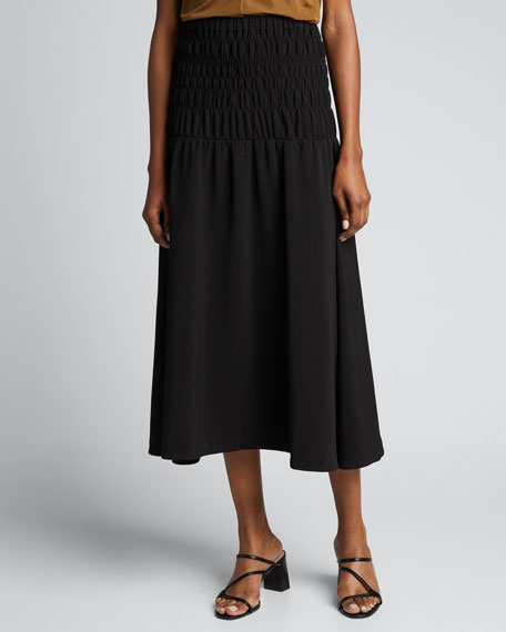 Greta Smocked Midi Skirt