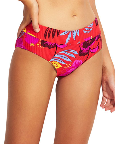 High-Rise Printed Hipster Bikini Bottom