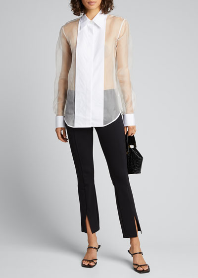 Sheer Tux Silk Shirt