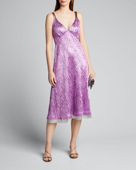 Sala Sleeveless Jacquard Midi Cocktail Dress