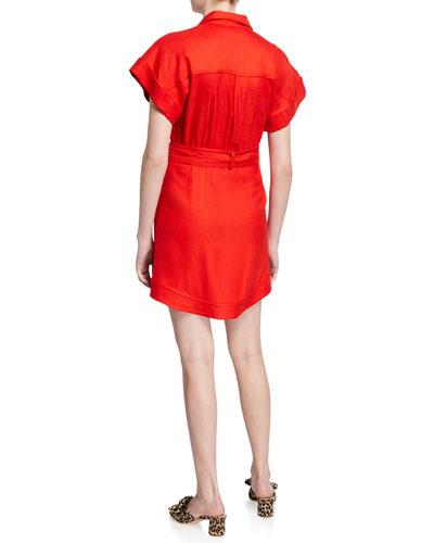 Sadia Button-Down Mini Dress