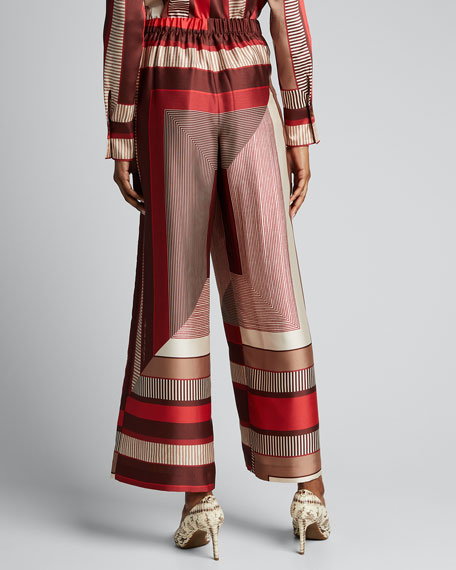 Riverside Prism Printed Twill Ankle Pants