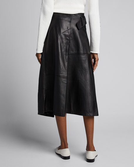 Leather Trench Skirt