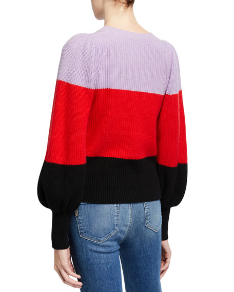 Sammy Colorblock Cashmere Sweater