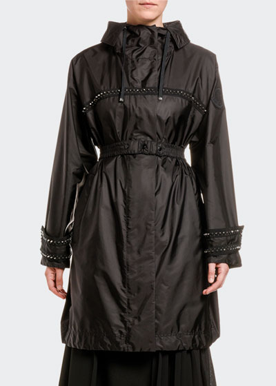 Prasin Studded Oversize Raincoat