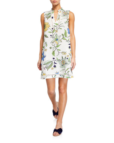Printed Sleeveless Beach Dress