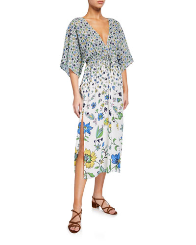 Printed Beach Coverup Midi Dress