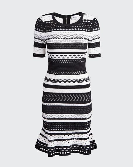 Striped Pointelle Mermaid Dress