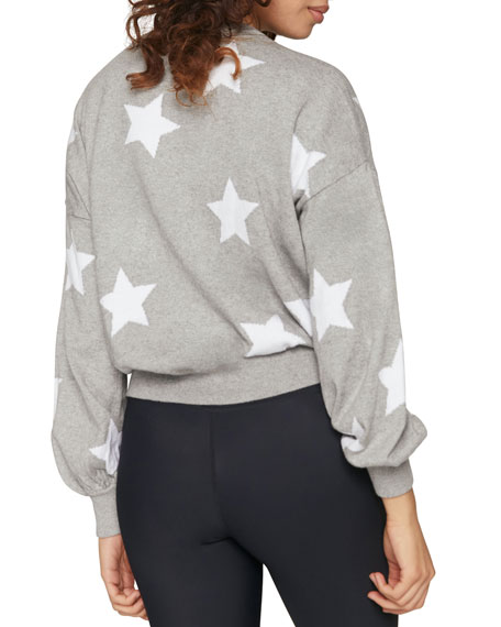 Stars Block Party Crewneck Heathered Sweater