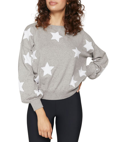 Stars Block Party Crewneck Heathered Sweater