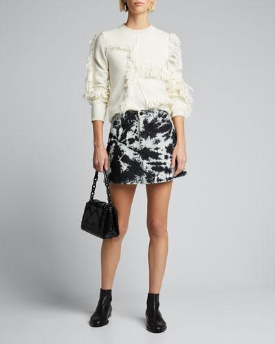 Good High-Rise Tie-Dye Denim Mini Skirt