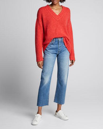 90s Oversized V-Neck Sweater