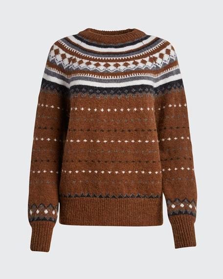 50s Fair Isle Raglan Crewneck Sweater