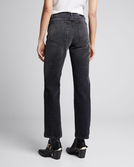 High-Rise Loose Straight-Leg Jeans