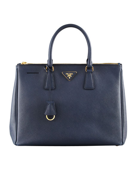 Saffiano Lux Tote Bag, Dark Navy (Baltico)