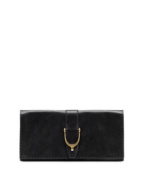Soft Stirrup Leather Clutch Bag