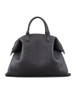 Bottega Veneta Convertible Veneta Tote Bag, Black