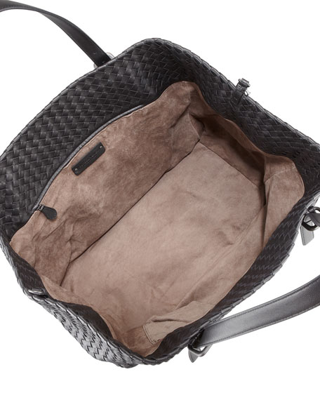 Large Double-Strap A-Shape Tote Bag, Black