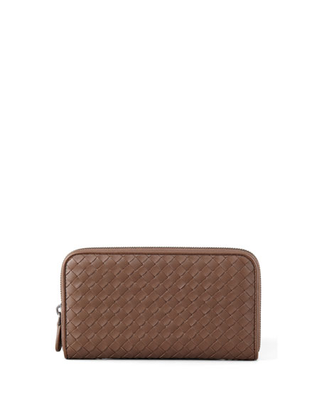 Continental Zip-Around Wallet, Brown