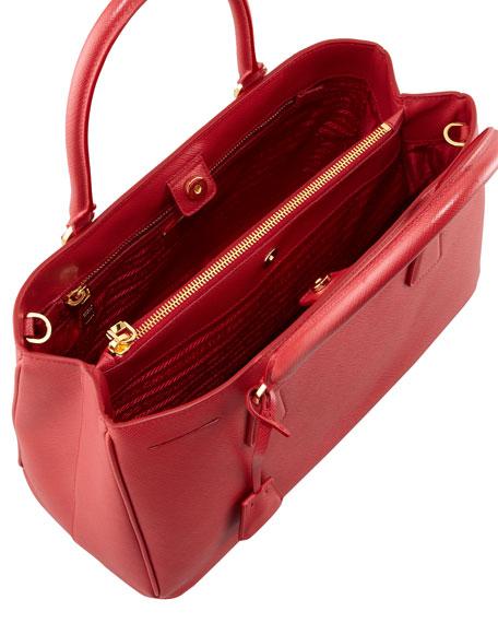 Saffiano Gardener's Tote Bag, Red (Fuoco)