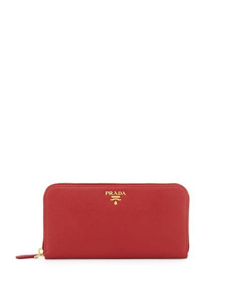 4046e8a51442c Prada Saffiano Zip-Around Wallet