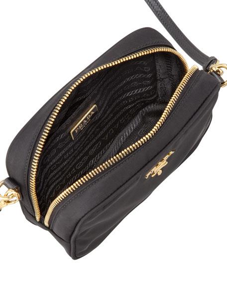 Tessuto Small Crossbody Bag, Black (Nero)