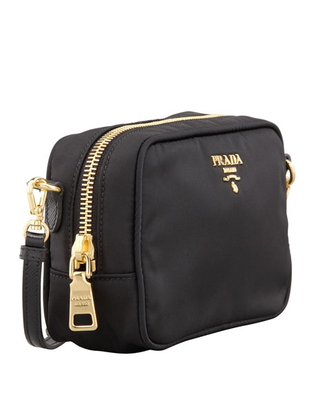 Tessuto Small Crossbody Bag, Black (Nero)