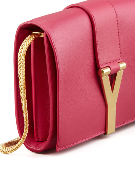 Y Ligne Mini Pochette Crossbody Bag, Fuchsia