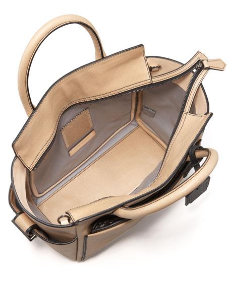 Mini Atlantique Tote Bag, Nude Black