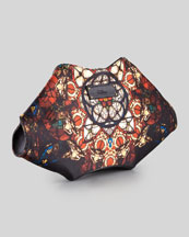 Alexander McQueen De-Manta Stained Glass Printed Clutch Bag