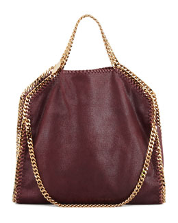 Stella McCartney Falabella Fold-Over Shoulder Bag, Plum
