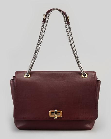 Happy Large Shoulder Bag, Plum