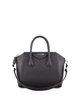 Givenchy Antigona Small Sugar Goatskin Satchel Bag, Black
