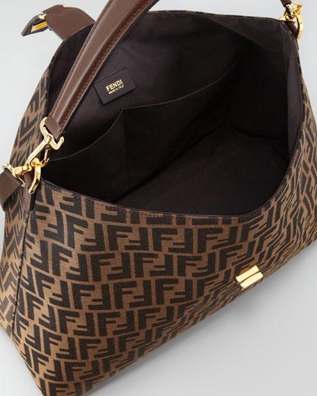 Zucca Large Hobo/Crossbody Bag, Brown