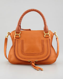 Chloe Marcie Medium Satchel Bag, Orange