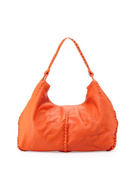 54f38d9654793 Bottega Veneta Cervo Large Shoulder Bag, Tangerine