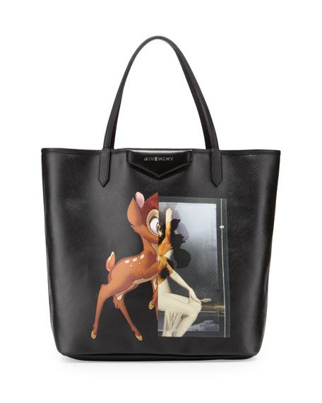 fb06b2e1e2 Givenchy Antigona Medium Leather Shopping Tote, Bambi Print