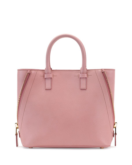 Jennifer Small Trap Calfskin Tote Bag, Pink