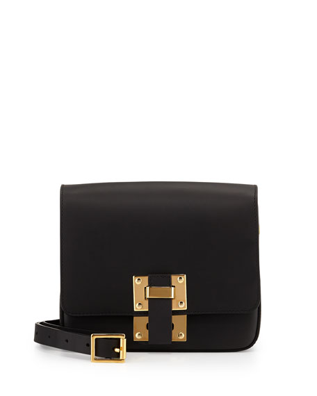 Box Flap Bag, Black