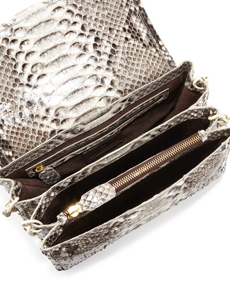 Crocodile/Python Small Chain-Strap Bag