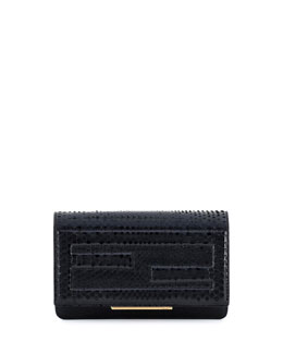 Python Tube Wallet on a Chain, Black