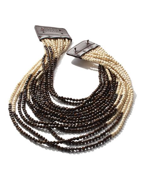 Riverstone Multi-Strand Necklace, Vanilla/Multi