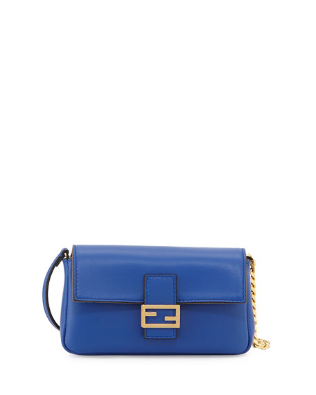 d093234104b Fendi Micro Fendista Shoulder Bag, Blue
