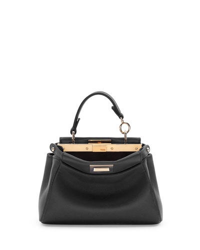 Peekaboo Micro Satchel Bag, Black